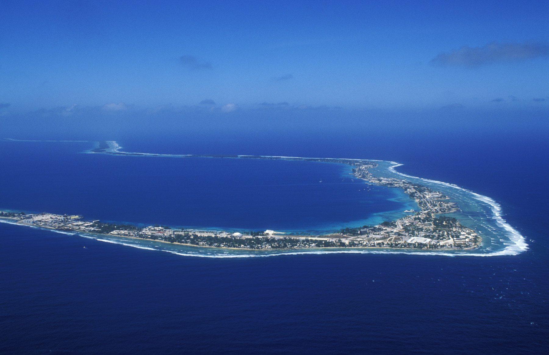 El atolón de Majuro es la capital de la Islas Marshall.