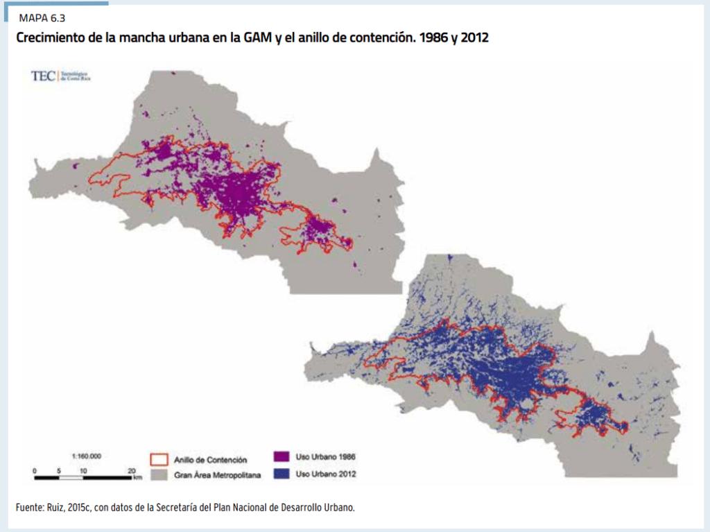 Esta ha sido la expansión territorial del GAM desde 1986.