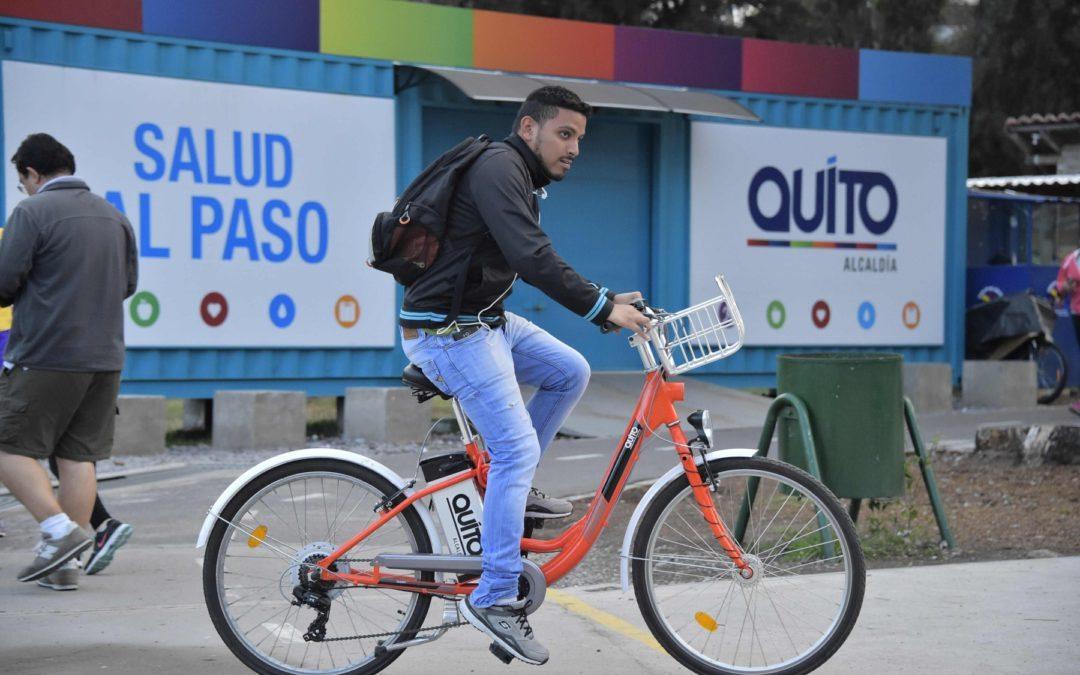 En Quito, bicicletas eléctricas de uso libre ahorran muchos problemas