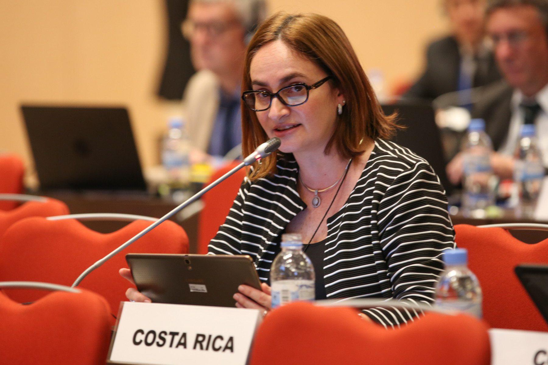 La viceministra de Energía, Irene Cañas, en la reunión de Kigali.