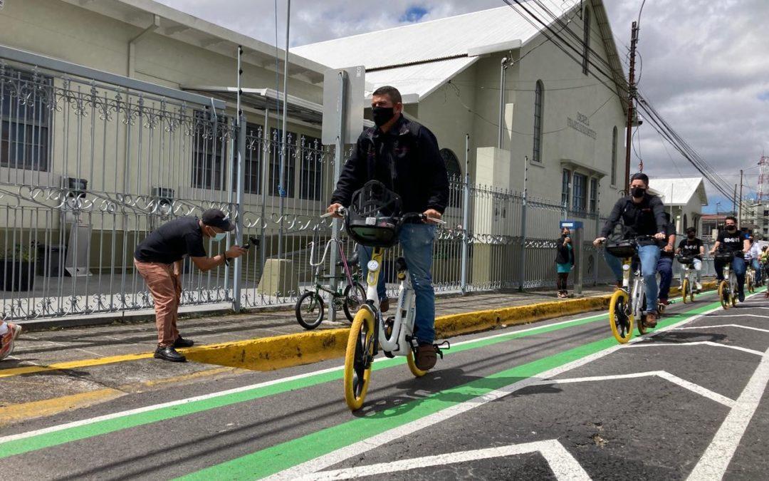 COSEVI invertirá ¢456 millones este año San José, Montes Oca y Desamparados contarán con 21,5 km de ciclovías