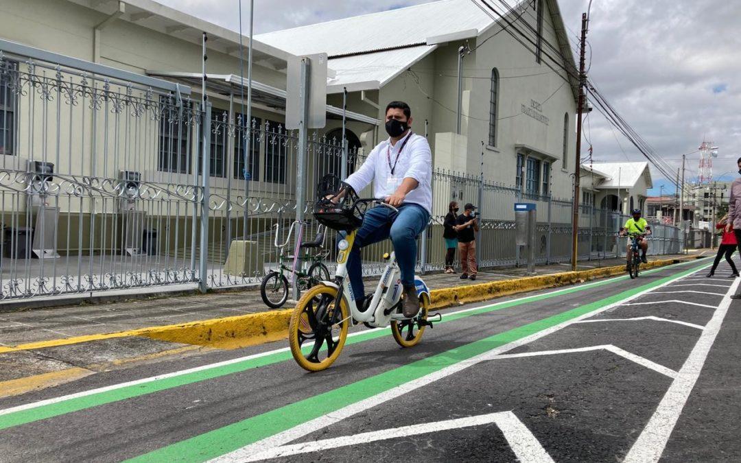 Ampliación de la red continuará en este 2021 Montes de Oca y Curridabat estrenan ciclovía en pro de movilidad sostenible