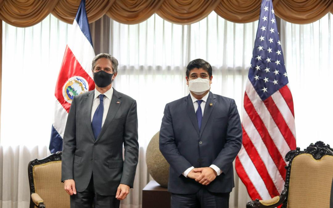 Tema en agenda de Antony Blinken, Secretario de Estado de los EE. UU. Cambio climático: uno de los puntos comunes entre Costa Rica y Estados Unidos