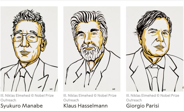 Otorgado a Syukuro Manabe, Klaus Hasselmann y Giorgio Parisi Nobel de Física 2021 reconoce aportes al entendimiento de sistemas complejos como el clima